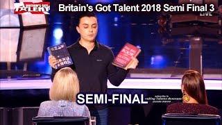 Marc Spelmann  Magician MAGICALLY EMOTIONAL Britain's Got Talent 2018 Semi Final 3 BGT S12E10