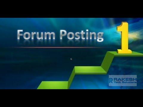 How to do Forum Posting SEO Tutorial - Rakesh Tech Solutions