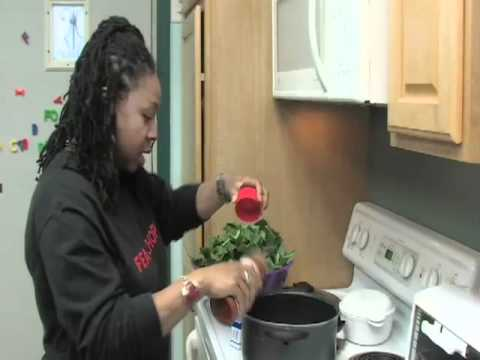 Cooking with Rhonda--Healthy Collard Greens