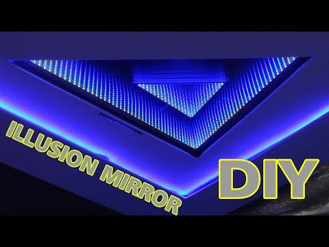 """how to make an """"animated"""" 3D LED Infinity Mirror XXL how to build an Illusion mirror"""