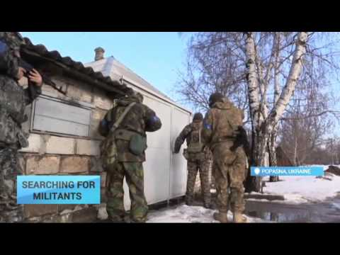 Searching for Militants: Ukrainian servicemen round up militant suspects in Luhansk region