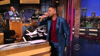 David Letterman Paul Shaffer CBS Orchestra & Will Smith