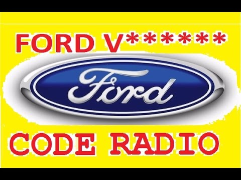 Unlocked Ford V series,decode serial radio,unlock radio 6000cd key code