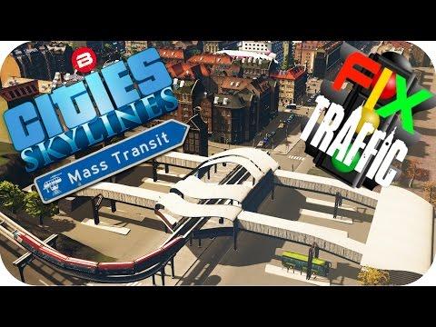 Cities Skylines Gameplay: MONORAIL & BUS HUB Cities: Skylines MASS TRANSIT FIX TRAFFIC Scenario #2