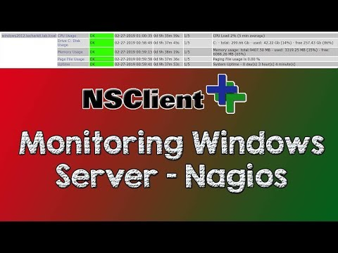 Nagios Core Monitoring Windows Server Using NSClient++ | Tech Arkit