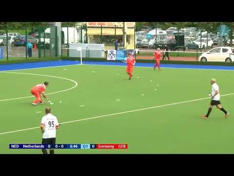 Netherlands 1 v Germany 0. Over 60 Mens European Cup Hockey. Glasgow 2017