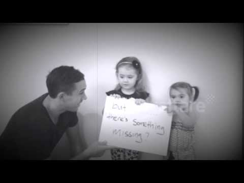 Cute girls help father propose