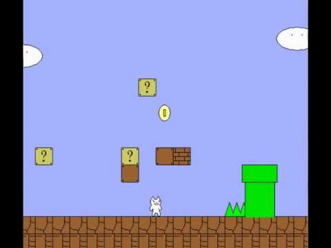 Let s play cat mario part 1 i like butter youtube