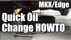 Oil Change HOWTO MKX/Edge Lincoln/Ford