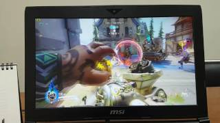 MSI GT62VR 6RE Dominator Pro, OverWatch Game Play