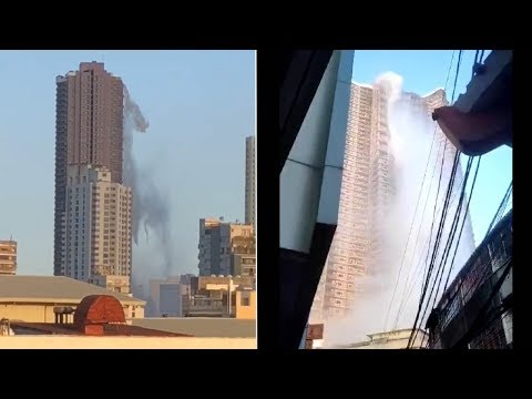 An earthquake causes a high rise to become a waterfall on Monday!
