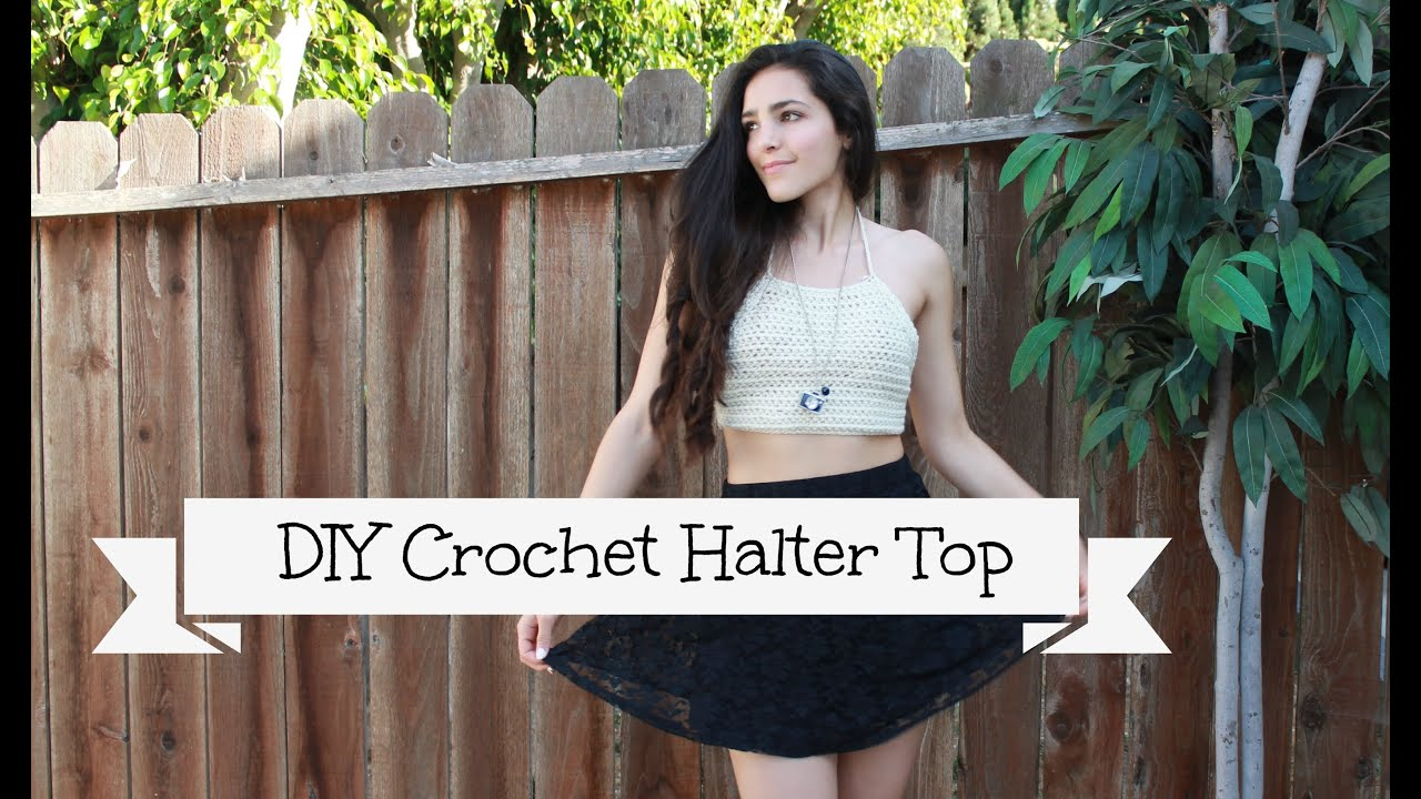 Diy crochet halter top youtube baditri Gallery