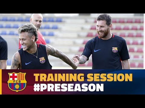 FC Barcelona training session: Evening workout at Ciutat Esportiva