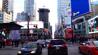 4k drive through Toronto ON Canada