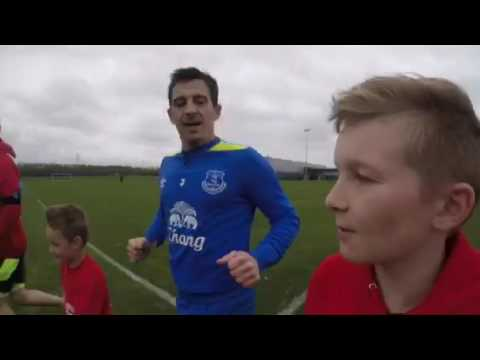 I ran with Leighton Baines
