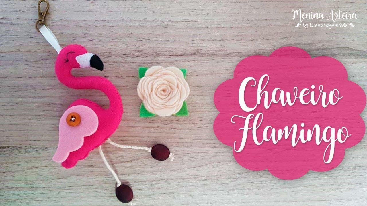 Lembrancinha Chaveiro Flamingo De Feltro Passo A Passo Youtube