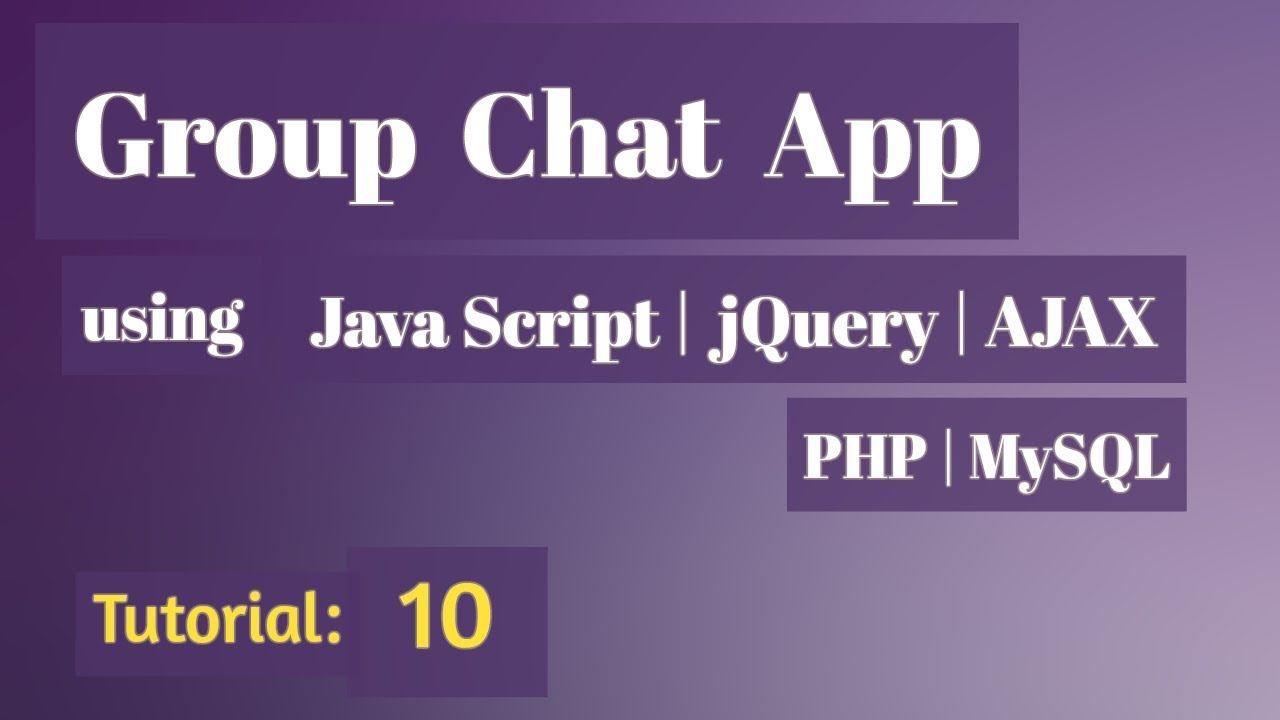 PHP Group Chat System - php mysql chat 10 - Final Video for this Web Group Chat App
