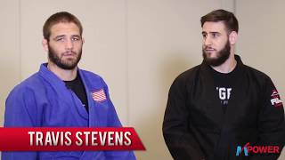 Travis Stevens Standing Sweep to Bow and Arrow Choke Technique Series