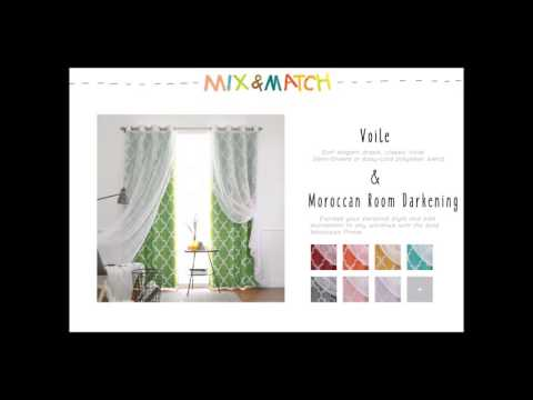 Best Home Fashion - Mix and Match Curtains (Voile Mix and Match Collection)