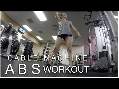 Abs & Obliques Cable Workout // 4 Abs Exercises on the Cable Machine