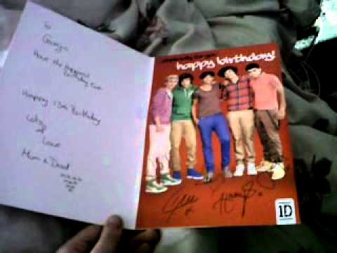 My One Direction Singing Happy Birthday Card D X Youtube