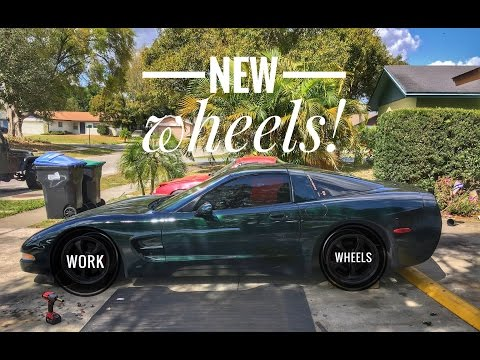 JDM WORK WHEELS for the Corvette Drift Car!!