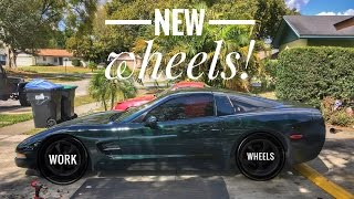 jdm work wheels for the corvette drift car
