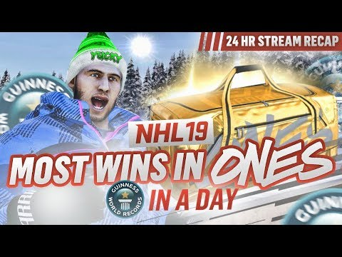 100 DIAMOND WINS IN 24 HOURS?! *WORLD RECORD* | NHL 19 Ones