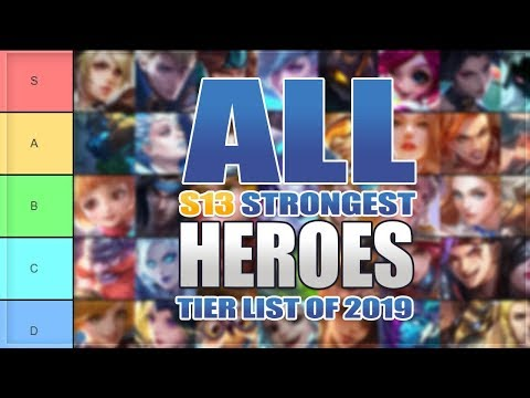 100 Strongest Mobile Legends Heroes Ranked In Season 13 (Best To Worst Tier List)