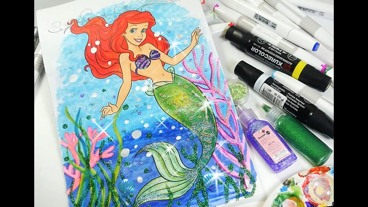 princess ariel coloring book little mermaid coloring page for kids