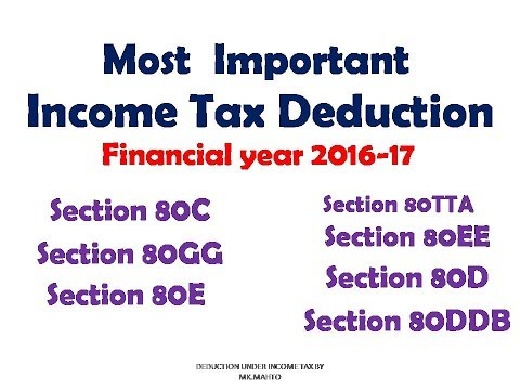 deduction under section 80c to 80u for ay 2017-18 pdf