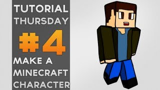 Tutorial Thursday //  How To Draw An Awesome Minecraft Character (skin) (Adobe Flash Tutorial)