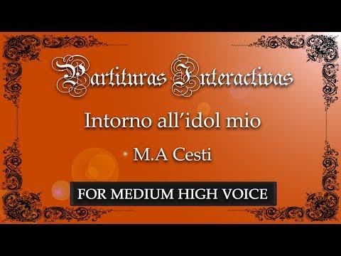 Intorno all'idol mio - M. A. Cesti (Karaoke - Key: E minor)