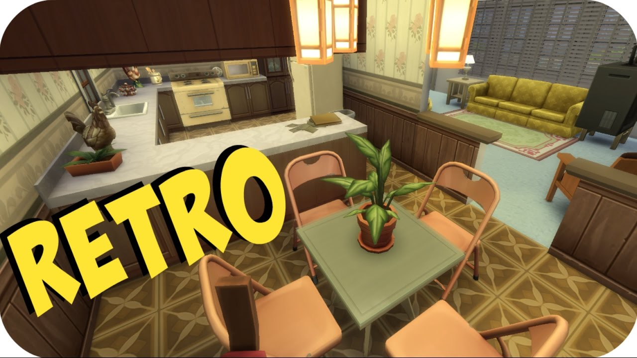 The Sims 4: SPEED BUILD | RETRO 80's Outdated Ugly HOUSE ...