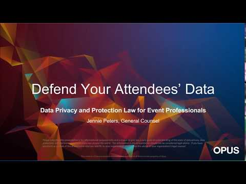 Data Privacy and Protection for Event Professionals | Opus Agency
