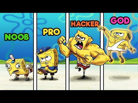 Minecraft - NOOB vs PRO vs HACKER vs GOD - SPONGEBOB HIDE AND SEEK!