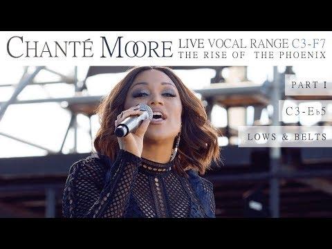Chanté Moore's Vocal Range: The Rise of the Phoenix Era (Live: Part I) [C3-F7]
