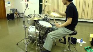 """Hawaii Five-o """"leon Taylor""""(the Ventures) Drum Cover"""