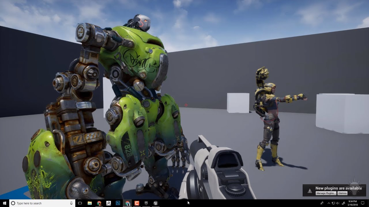 Loading the Free Paragon Assets in Unreal Engine 4