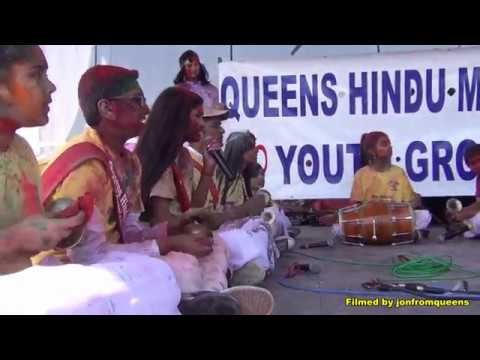 Queens Hindu Mandir Chowtal Group perform at 2018 Phagwah Show