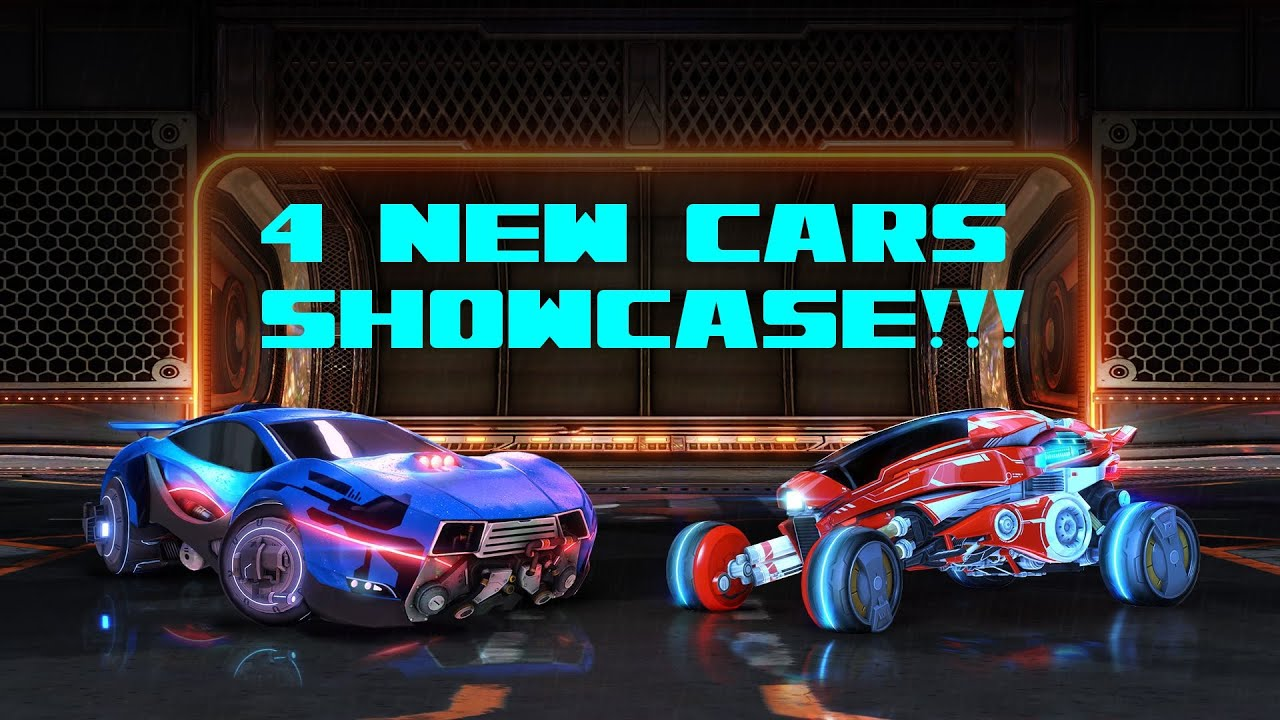 Rocket League - 4 New Cars + Decals Showcase - YouTube
