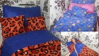 How To Make Doll Bedding. Bed, Pillow+ Doll Stop Motion