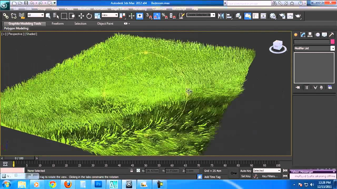 How to create a 3d grass matt in autodesk 3ds max for Tutorial 3d max