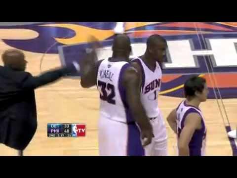 Allen Iverson Pistons vs. Suns Nash Shaq Flagrant 08/09 NBA