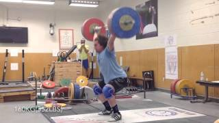 Snatch series up to 170kg(374lbs)