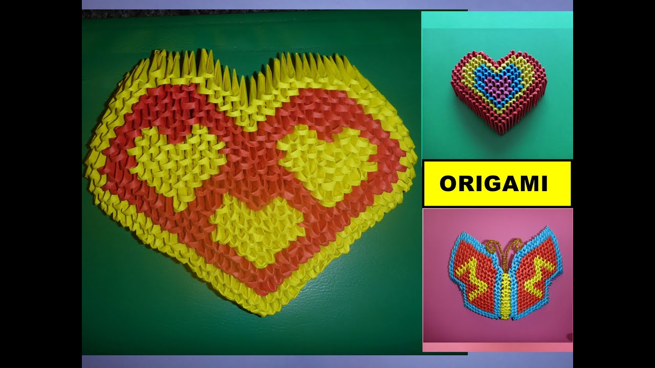 diy origami 3d herz basteln mit papier mother s day gift ideas heart tutorial anleitung youtube. Black Bedroom Furniture Sets. Home Design Ideas