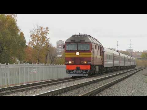 ТЭП70-0490 с поездом 121 Владикавказ - СПб на перегоне Криволучье - Тула-3 МСК ж.д.