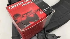 7.62x39mm, 124gr FMJ, Geco Velocity Test