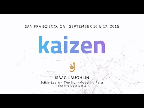 Galvanize Data Science Instructor, Isaac Laughlin, Presents SciKit-Learn: The Non-Modeling Parts
