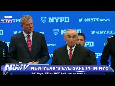 FNN: NY Mayor, NYPD and FBI talk about New Year's Eve Safety